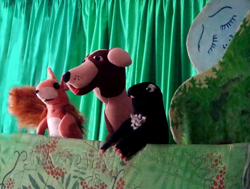 Белочка, Пёс и Крот