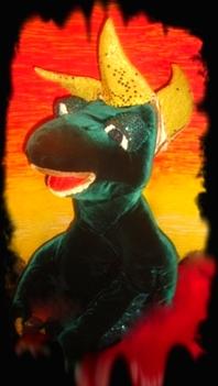 Зелёный динозаврик
