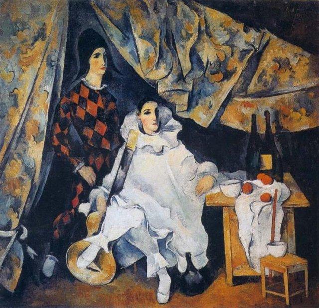 Александр Шевченко Пьеро и Арлекин (Братья-жонглеры Сирано) 1920