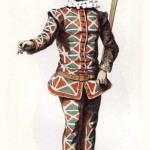 Арлекин  (Меццетино  Труффальдино  Табарино )— второй дзанни  глупый слуга