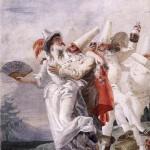 Дж.Д.Тьеполо  Влюблённый Пульчинелла  (1797