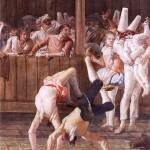 Дж.Д.Тьеполо  Пульчинелла и акробаты  (1797