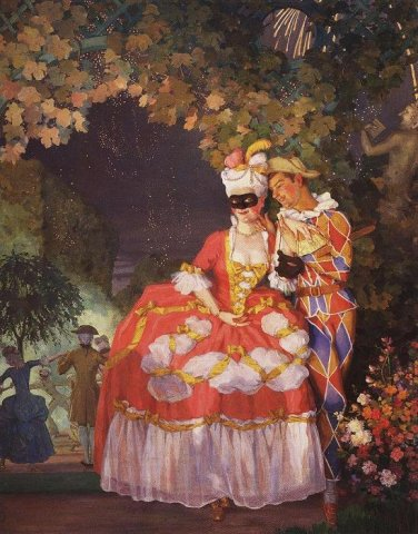 К.Сомов Арлекин и дама 1921