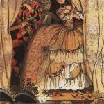 К.Сомов  Книга маркизы. Иллюстрация №1 Сommedia dell'arte 1918