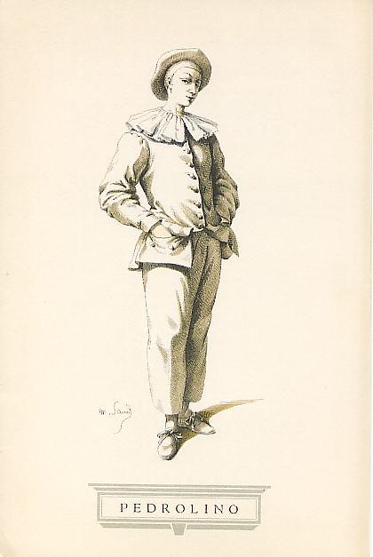 Педролино (старинная гравюра)