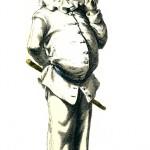 Пульчинелла (Полишинель), второй дзанни, глупый слуга