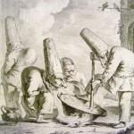 Пульчинеллы, офорт XVIII в.