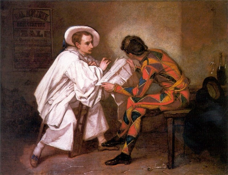 Тома Кутюр Арлекин и Пьеро 1857