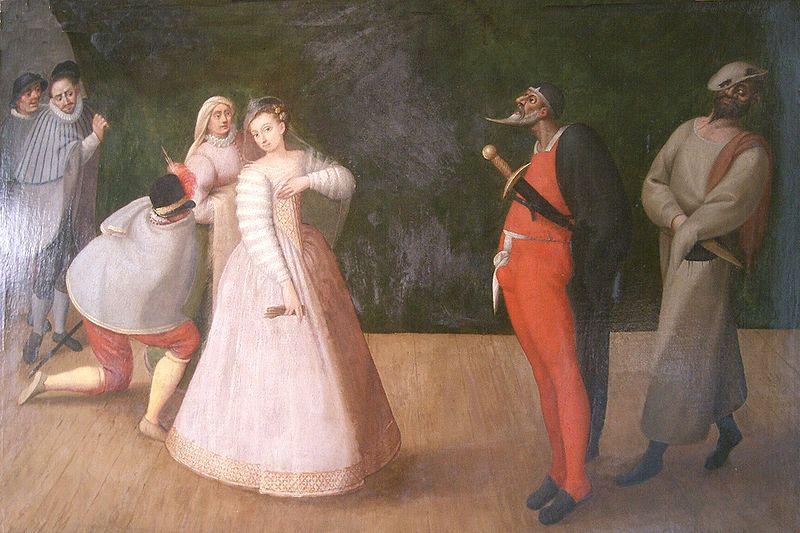 Труппа «Джелози», фламандский художник конца XVI в.
