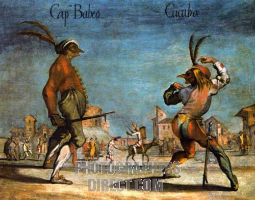 Commedia dell' Arte - Cucuba teasing Il Capitano Babeo