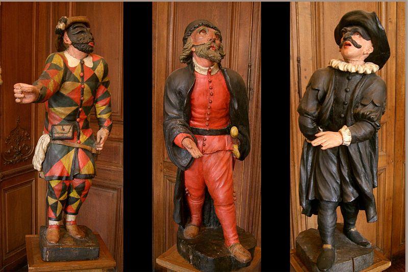 Arlequin - Pantalone - Il Dottore -commedia dell'arte