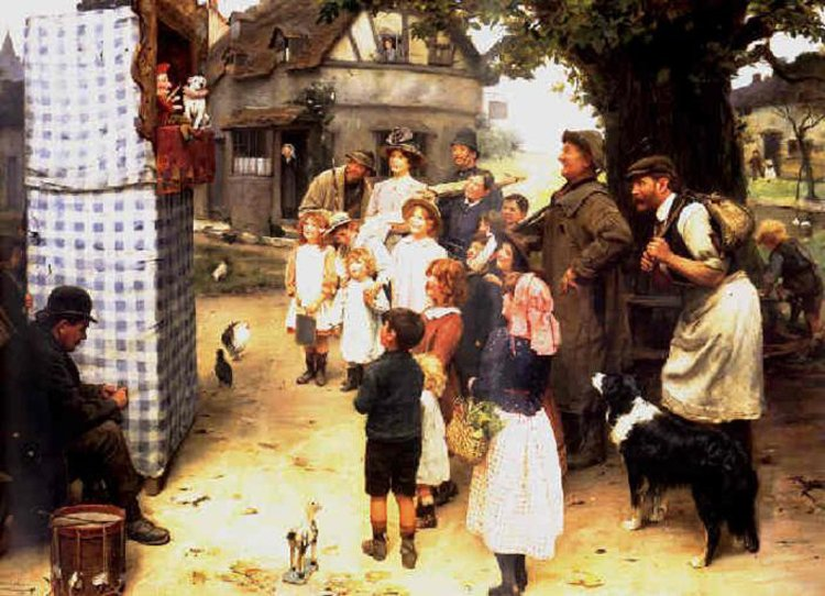 Arthur John Elsley The Punch and Judy show 1912