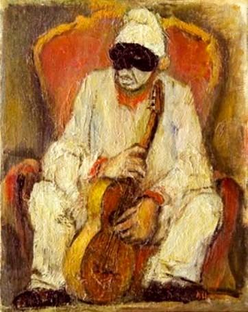 Chiancone Alberto Pulcinella con chitarra
