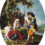 Filippo Falciatore (1728 -1768) Italy Garden Enterteinment  Италия. Кукольник в саду