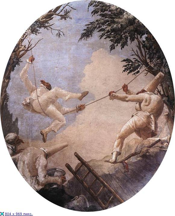 Giovanni Domenico Tiepolo  The Swing Of Pulcinella
