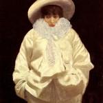 Giuseppe de Nittis  Sarah Bernhardt as pierrot