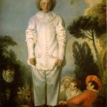 Jean-Antoine Watteau (1684–1721), Commedia dell'arte player of Pierrot, ca. 1718–19, traditionally identified as Gilles