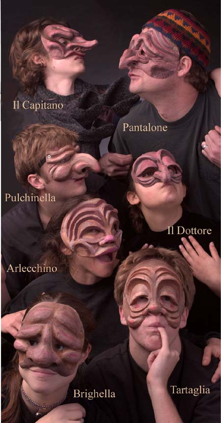 Masks of Commedia. 2007. Philisophical Stages  Masks. Stanford University
