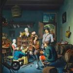 Willem van Mieris (1662 -1747) The Peepshow  Кинетоскоп