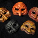 Set A Commedia masks