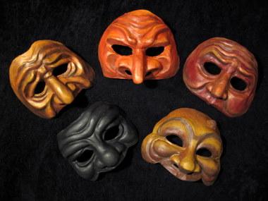 Set A Commedia masks