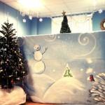 Расположение ширмы в детском центре